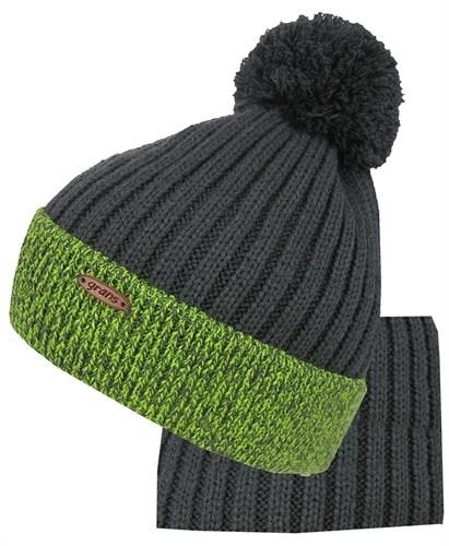 Grans комплект A 1006 DS шапка, подклад хлопок+шарф (р.52-54) - фото 31853