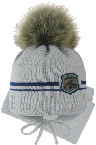 Grans комплект A 1096 ST шапка с утеплителем, подклад хлопок+шарф (р.42-44) - фото 31855