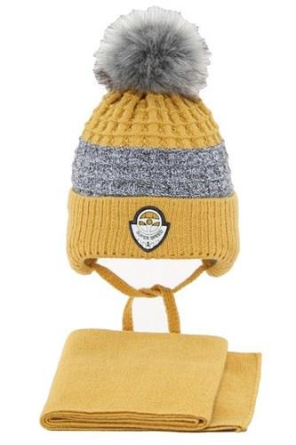 AGBO комплект 3243 Fikus 3 шапка на  утеплителе+снуд (р.44-46) - фото 32333