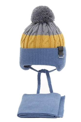AGBO комплект 3139 Stan шапка с  утеплителем, подклад хлопок+снуд (р.46-48) - фото 32335