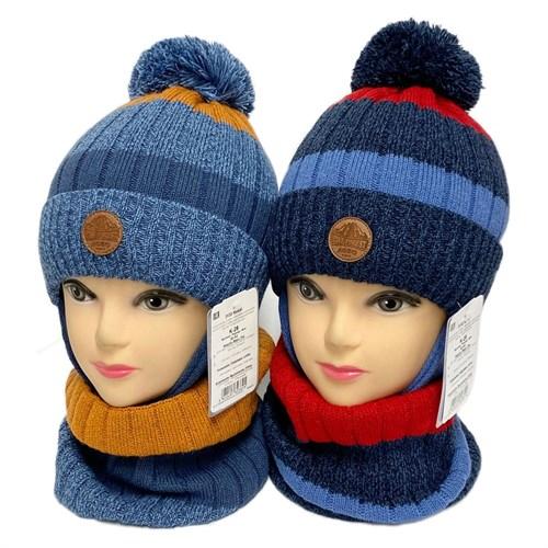 AGBO комплект 3133 Nokat шапка на утеплителе, подклад хлопок+снуд (р.50-52) - фото 32539
