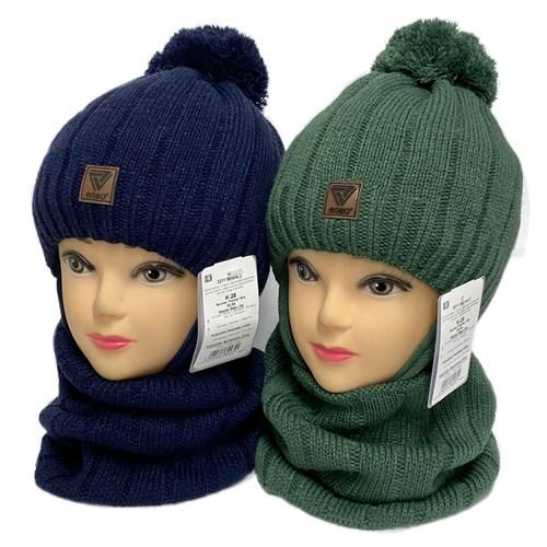 AGBO комплект 3211 Milord2 шапка с утеплителем, подклад хлопок+снуд (р.52-54) - фото 32540