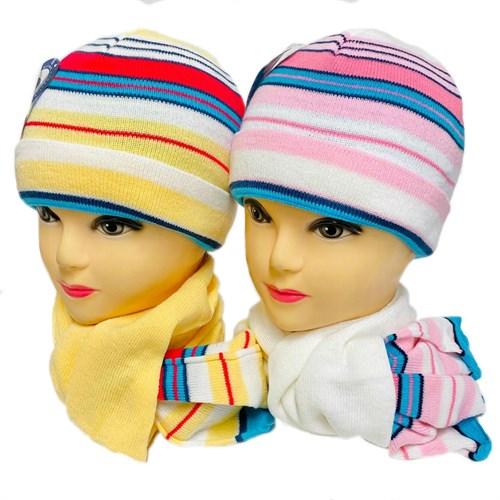 artex комплект шапка одинарная вязка + шарф (р.50-52) - фото 32607