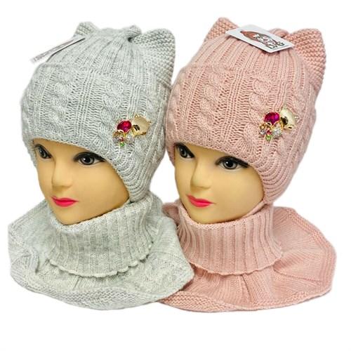 LVG комплект шапка вязаная, на утеплителе + манишка (р.48-50) - фото 32638
