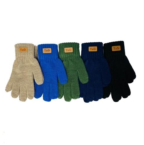 Теплыши перчатки TG-086 одинарная вязка (размер 14/5-6 лет) - фото 32647