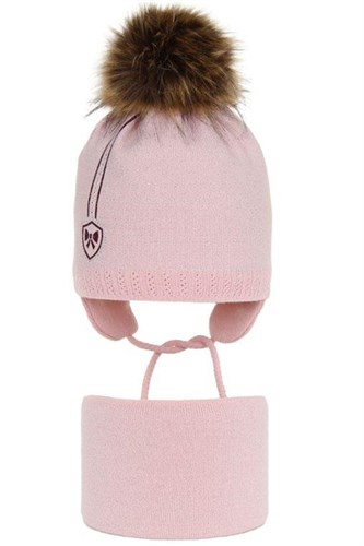 AGBO комплект 2974 Bea шапка с утеплителем, подклад хлопок +снуд (р.50-52) - фото 32775
