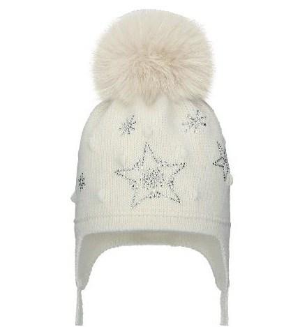 Barbaras модель WN 02/LL шапка с утеплителем, подклад хлопок (р.48-50) натуральный помпон - фото 32787