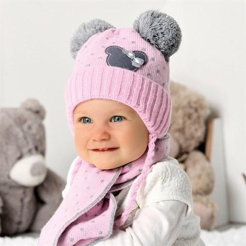 .AJS комплект 40-406 шапка подклад флис +шарф (р.40-42) - фото 32949