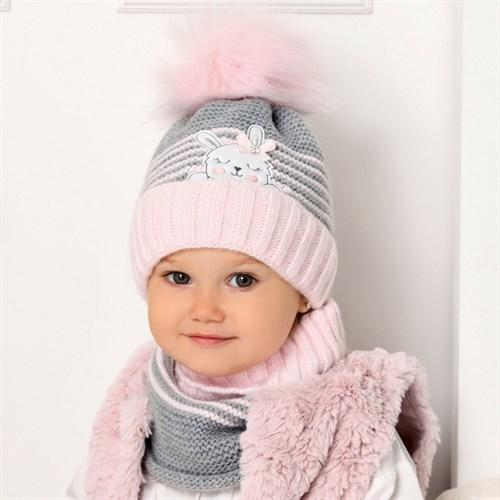 .AJS комплект 40-420 шапка на флисе + снуд (р.48-50) - фото 32956