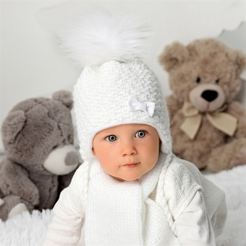 .AJS комплект 40-404 шапка, подклад флис +шарф (р.36-38) - фото 32964