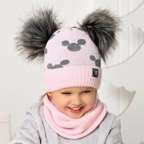 .AJS комплект 40-454 шапка подклад флис+снуд (р.50-52) - фото 32971