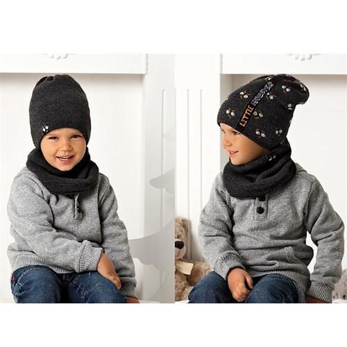 .AJS комплект 40-467 шапка двойная вязка+снуд двухсторонняя (р.50-52) - фото 32985