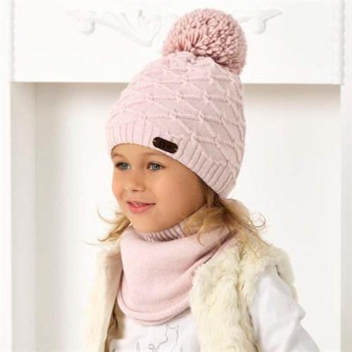 .AJS комплект 40-484 шапка двойная вязка +снуд (р.52-54) - фото 33047
