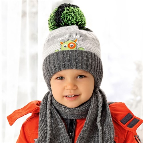 .AJS комплект 38-480 шапка, подклад флис + шарф (р.44-48) - фото 33100