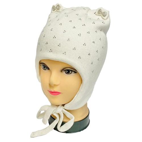 Angel шапка AN-5937 вязаная (кролик),подклад хлопок (р.50-52) белая - фото 33299