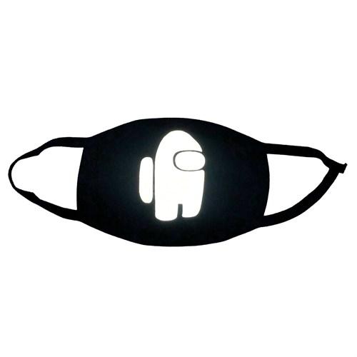 светоотражающая маска на лицо, рисунок: светящийся астронавт - фото 33331