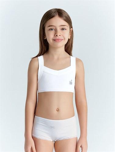 Топ для девочки Baykar 4290 белый - фото 33481