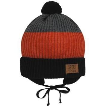 GRANS шапка Ku 518 вязаная, подклад хлопок (р.50-52) - фото 33598