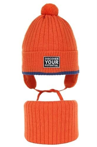 AGBO комплект 3165 Zoran шапка вязаная, подклад хлопок+снуд (р.52-54) - фото 33636