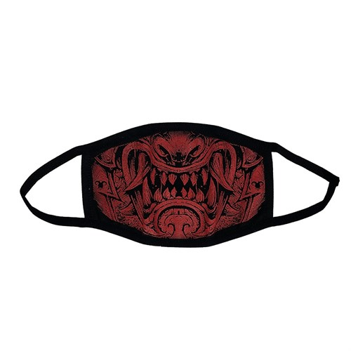 маска на лицо (трикотаж), рисунок: самурай - фото 33673