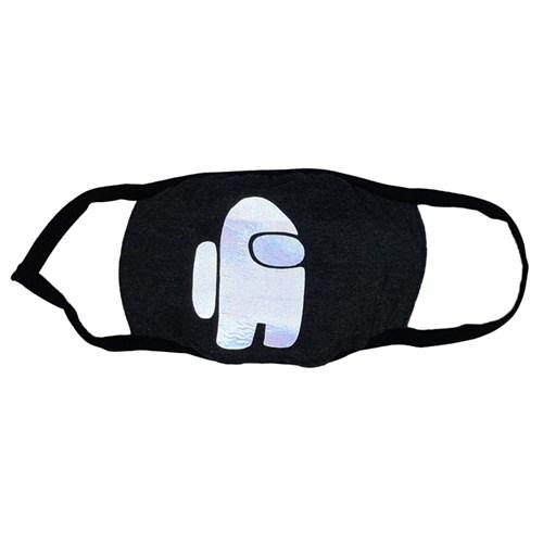 светоотражающая маска на лицо, рисунок: светящийся астронавт серая - фото 33780