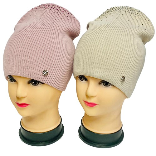 LAMIR шапка Алена двойная вязка (р.56-58) - фото 33893