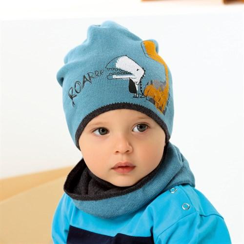 .AJS комплект 42-052 шапка одинарная вязка + снуд (р.48-50) - фото 34033