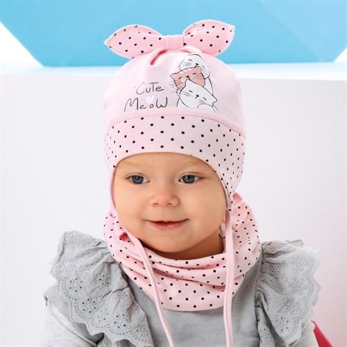 .AJS комплект 42-030 шапка одинарный трикотаж + снуд (р.44-46, 48-50) - фото 34151