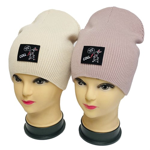 LAMIR шапка Зайчик P 150 двойная вязка (р.54-56) - фото 34183