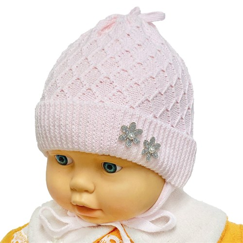 GRANS шапка Ku 481 вязаная, подклад хлопок (р.38-40) - фото 34291