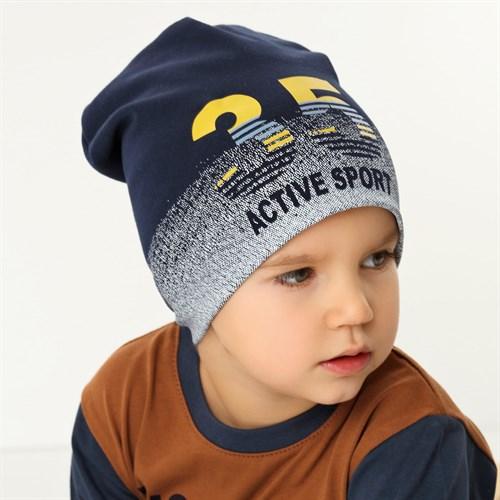 .AJS шапка 42-179 двойной трикотаж (р.48-50, 52-54) - фото 34357