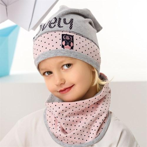 .AJS комплект 42-083 шапка одинарный трикотаж + снуд (р.48-50, 52-54) - фото 34405