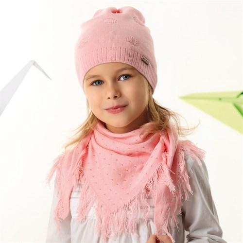 .AJS комплект 42-144 шапка одинарная вязка + косынка (р.52-54) - фото 34445