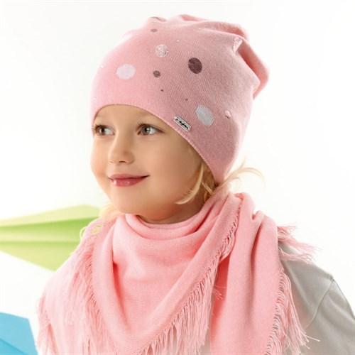 .AJS комплект 42-070 шапка одинарная вязка + косынка (р.52-54) - фото 34453