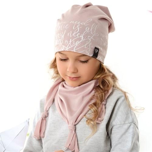 .AJS комплект 42-121 шапка одинарный трикотаж + косынка (р.48-50, 52-54) - фото 34859
