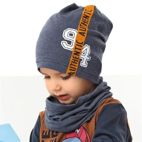.AJS комплект 42-194 шапка одинарный трикотаж + снуд (р.48-50, 52-54) - фото 34861
