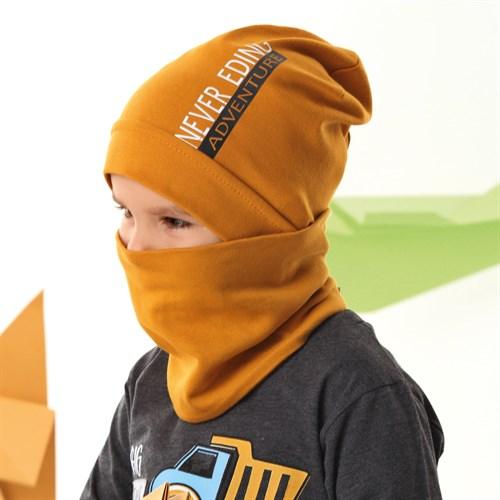 .AJS комплект 42-173 шапка одинарный трикотаж + снуд (р.48-50, 52-54) - фото 34863