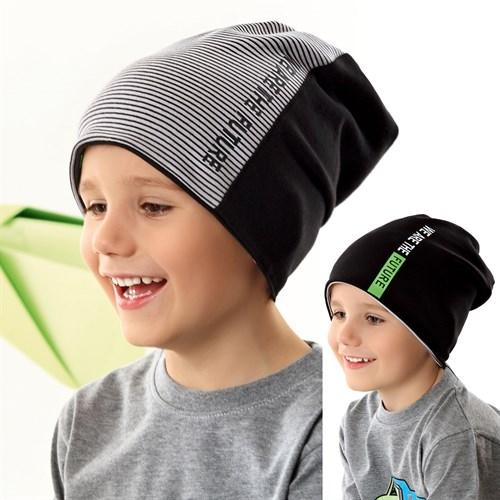 .AJS шапка 42-203 двухсторонний трикотаж (р.48-50, 52-54) - фото 34868