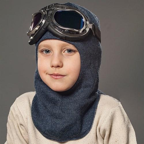 Milli шлем модель Эльбрус+очки, на хлопке (на 6 лет) демисезонный - фото 35041