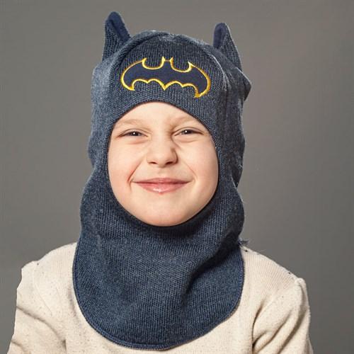 Milli шлем модель Летучая Мышь, на хлопке (на 1год) демисезонный - фото 35087