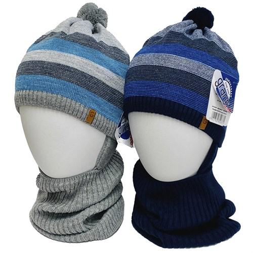 Grans комплект Ku 448 Kpl шапка вязаная, подклад хлопок+снуд (р.50-52) - фото 35284