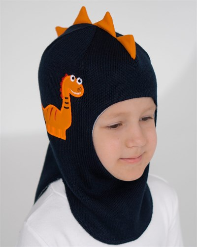 Milli шлем Дракоша, на хлопке (на 2 года) демисезонный - фото 35535