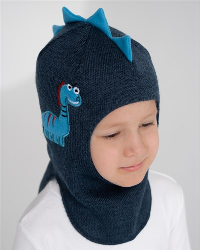 Milli шлем Дракоша, на хлопке (на 1 год) демисезонный - фото 35538