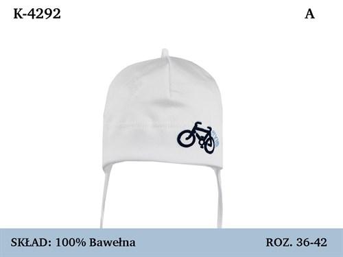 Magrof шапка 4292 одинарный трикотаж с сеткой, с завязками  (р.36-44) - фото 35943