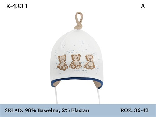 Magrof шапка 4331 одинарный трикотаж с завязками  (р.36-44) - фото 35973
