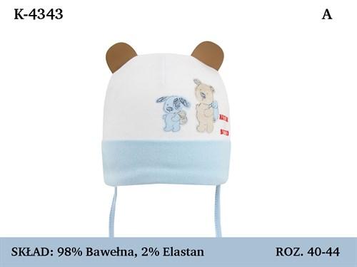 Magrof шапка 4343 одинарный трикотаж с завязками  (р.40-46) - фото 35977