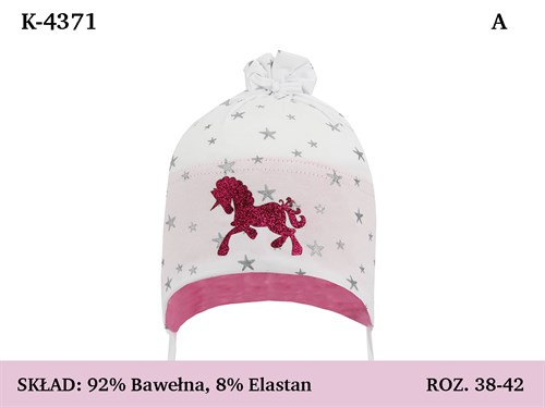 Magrof шапка 4371 одинарный трикотаж с завязками  (р.38-44) - фото 35987