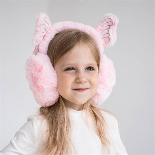 Меховые наушники для девочек Ангел (one size) - фото 36046