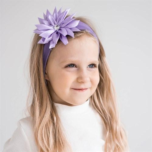 повязка на голову для девочки с цветком - фото 36047
