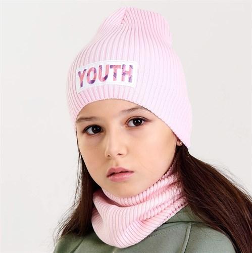 Pompona вязаная шапка 21 VP 49 (р.50-54), цвета: белый, мятный - фото 36160